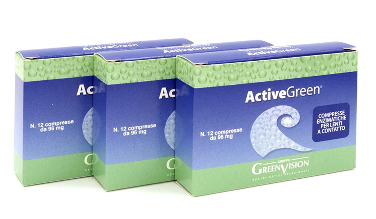 ActiveGreen Compresse enzimatiche per lenti a contatto