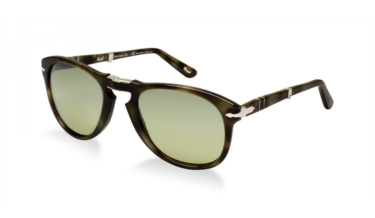 Persol 0714 STRIPED DOVE/OLIVE SAGE SHADED PHOTOCHROMIC POLARIZED