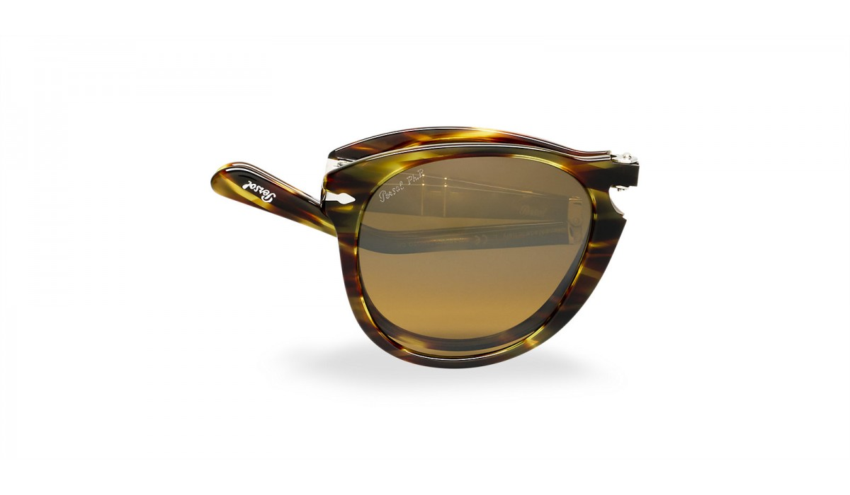Persol 0714 STRIPED BROWN/BROWN SHADED POLARIZED