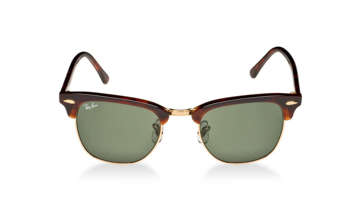 Ray Ban 3016 Clubmaster MOCK TORTOISE GOLD/GREY GREEN