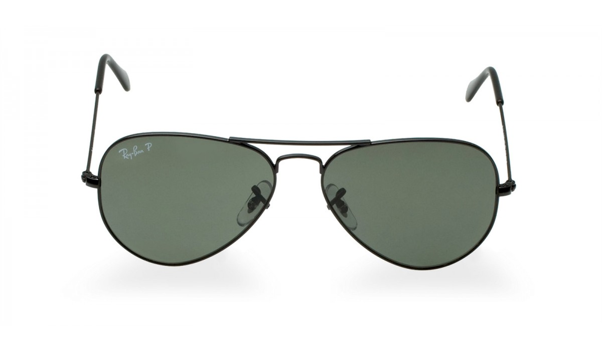 Ray Ban 3025 Aviator BLACK/GREY GREEN