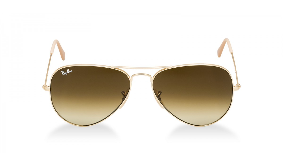 Ray Ban 3025 Aviator MATTE GOLD/BROWN GOLD SHADED