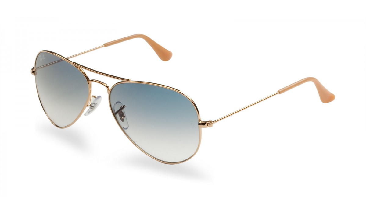 Ray Ban 3025 Aviator GOLD/BLUE SHADED