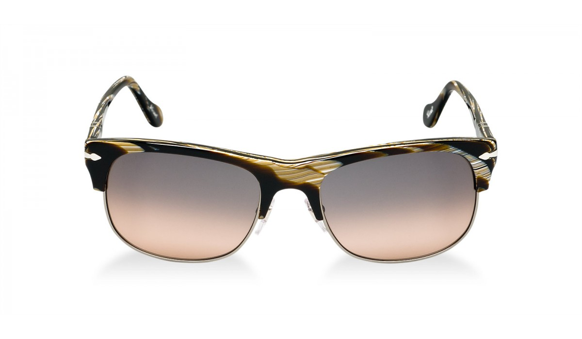 PERSOL 3034 GREY HORN/GREY PINK SHADED